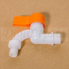 Кран пластиковый угловой 1/2 на 15мм