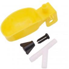 Чашечная поилка для перепелов + тройник и крепление